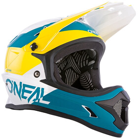 O'Neal Backflip Helm Bungarra white/green/yellow